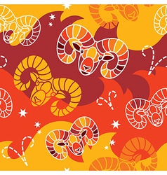 Aries - Zodiac seamless pattern vector image vector image