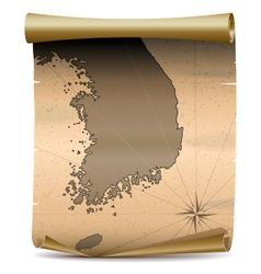 Korea Vintage Map vector image vector image