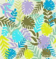 leaves pattern Tropical Pattern with Monstera vector image vector image