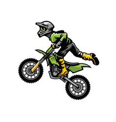 Motocross rider doing stunt vector
