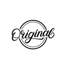 original hand written lettering sign logo stamp vector image