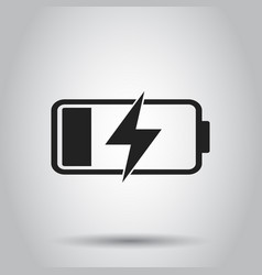 Battery charge level indicator on gray background vector