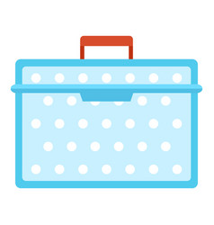 lunch box plastic icon flat style vector image