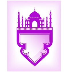 Taj mahal temple silhouette vector image vector image