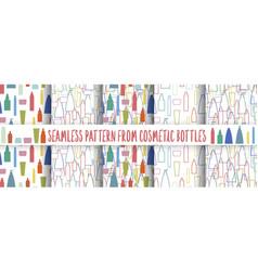 cosmetics bottle pattern set vector image