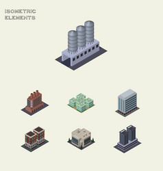 Isometric urban set of water storage clinic vector