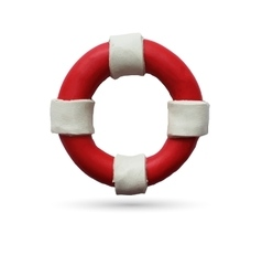 Lifebuoy on white background vector image vector image