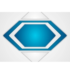 Abstract blue and grey background vector image