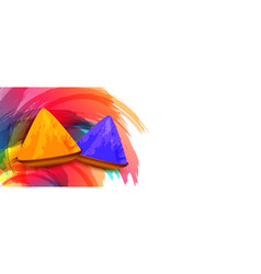 Abstract happy holi festival colors background vector