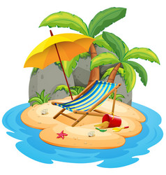 an isolated summer island vector image