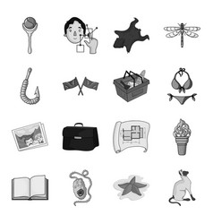 asterisk sea catand other web icon in monochrome vector image