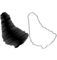 barbados islands map vector image