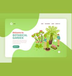 botanical garden isometric banner vector image