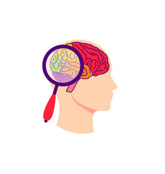 brain test concept vector image