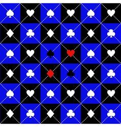 Card Suits Blue Black Chess Board Diamond vector