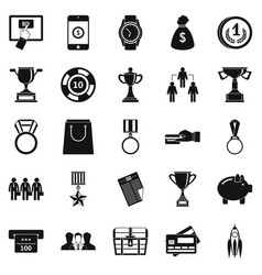Cash transfer icons set simple style vector