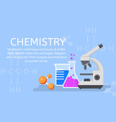 chemistry lab concept background flat style vector image