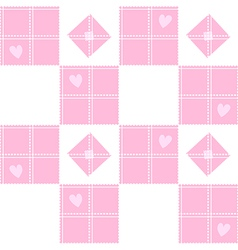Chessboard Pink Heart Valentine Background vector