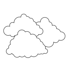cloudy weather icon outline style vector image