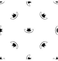 cowboy hat pattern seamless black vector image
