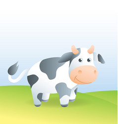 cute cartoon cow character vector image