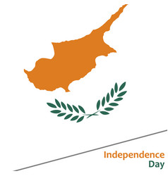 cyprus independence day vector image