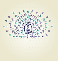 decorative peacock vector image