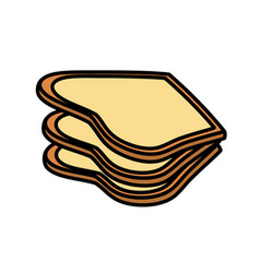 Delicious fresh bakery slice bread vector