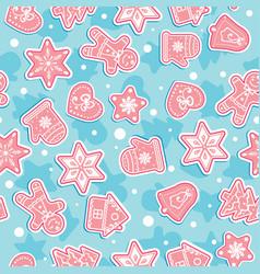 Doodles christmas cookies gingerbread - vector