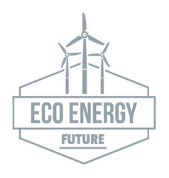 Eco energy logo simple gray style vector
