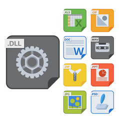 file types icons and formats labels vector image