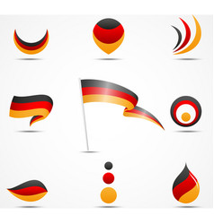 flags and icons of germany vector image vector image