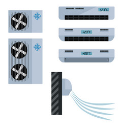 flat icon air conditioner on isolated vector image