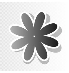 flower sign new year vector image vector image