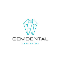 Gems dental logo for dentist and dentistry vector