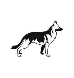 German Shepherd dog icon simple style vector image
