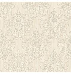 Grunge beige vintage floral seamless pattern vector image