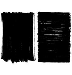 Grunge brush stroke background frames vector