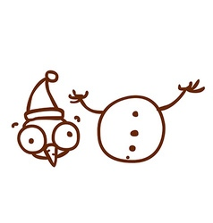 Hand Drawn Beheaded Snowman vector image