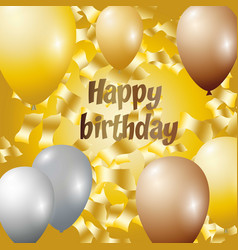 Happy birthday - golden foil vector