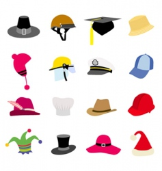 Hat set vector