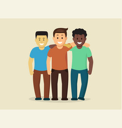 horizontal poster of friends vector image