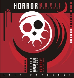 Horror film festival flat design concept vector
