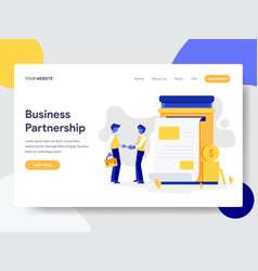 landing page template business partnership vector image