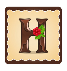 letter h candies vector image