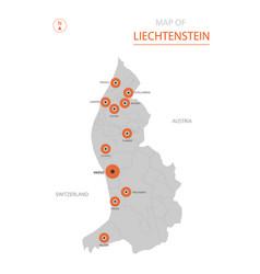 Liechtenstein map with administrative divisions vector