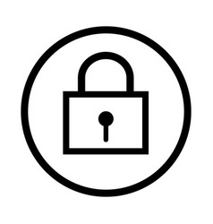 lock icon - iconic design vector image