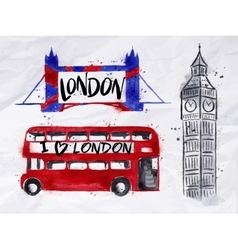 London signs vector image