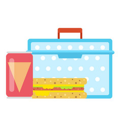 lunch box concept icon flat style vector image