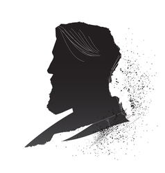Male silhouette vector